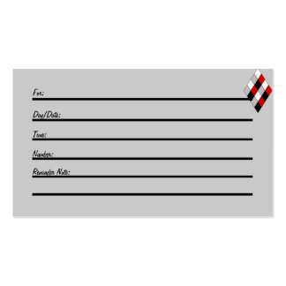 Appointment Card jester diamond Business Card Templates