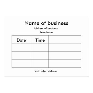 Appointment card large business card
