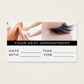 Appointment Card Lashes Wax Salon Spa