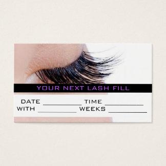 Appointment Card MakeUp Lash Extensions Salon