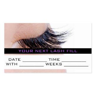 Appointment Card MakeUp Lash Extensions Salon Business Card