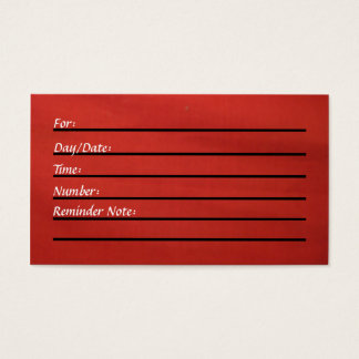 Appointment Card (red)