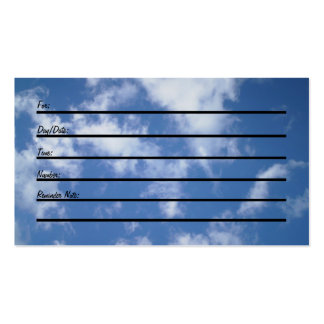 Appointment Card sky Business Card Templates