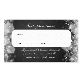 Appointment Card Sparkling Night Black Business Card Template