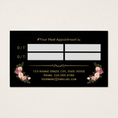 Appointment Card Vintage Beauty Salon Gold Floral at Zazzle