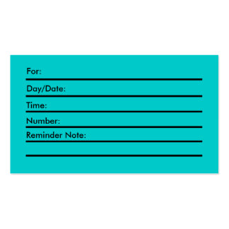 Appointment Card w clocl Business Card Templates