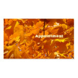 Appointment Cards Golden Orange Leaves Autumn Business Card Templates