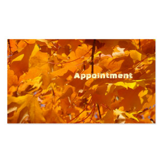 Appointment Cards Golden Orange Leaves Autumn Double-Sided Standard Business Cards (Pack Of 100)