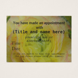 Appointment cards Rose