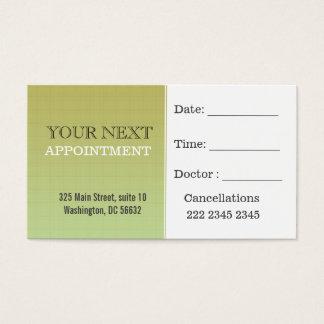 Appointment | Dark khaki Minimal Plaid Pattern Business Card