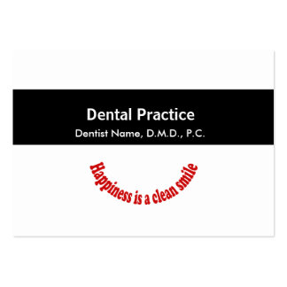 Appointment Dentistry Medical Black Middle Band Large Business Card