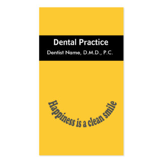 Appointment Happiness is a Clean Smile Dentist Business Card