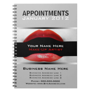 Appointment Note Book For Make-Up Artists
