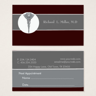 Appointment  Physician Iconographic Medical Doctor Business Card