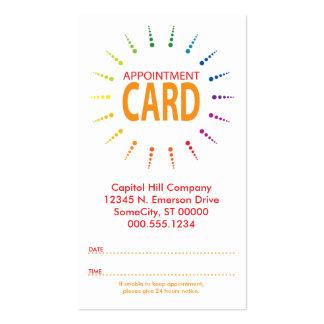 appointment rainbowBurst Business Card