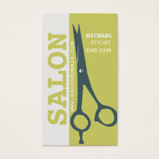 Appointment Re-Booking Success Salon Hair Scissors Business Card