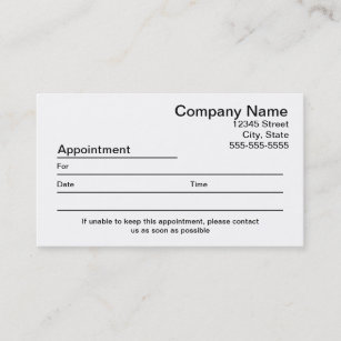 Appointment reminder business cards templates zazzle appointment reminder business card wajeb Image collections