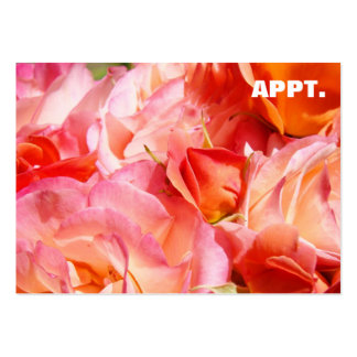 Appointment Reminder Cards Pink Rose Flowers Business Card