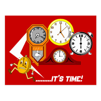 Appointment Reminder Clocks It s Time POSTCARD