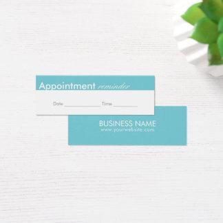 Appointment Reminder Elegant Minimal Mini Business Card