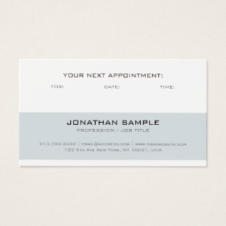 Appointment Reminder Modern Stylish Simple Plain Business Card