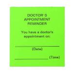 Appointment Reminder Notes del doctor (verde clara Libreta Para Notas