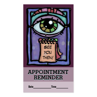 Appointment reminder.Teacher.Meeting.Business.Doc. Business Card