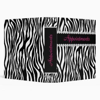 Appointment School Binder Zebra Pink BW