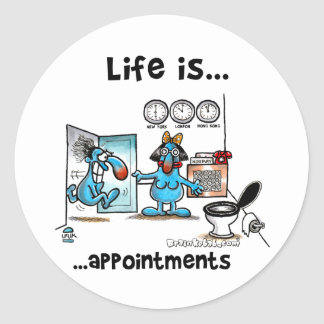appointments classic round sticker