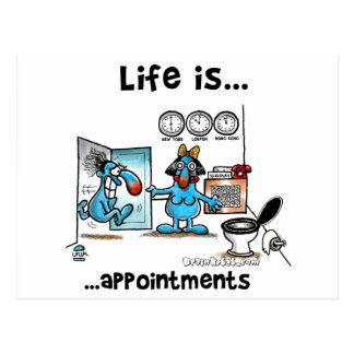 appointments postcard