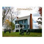 Appomattox mira postal de la casa
