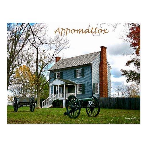 Appomattox Peers House Postcard
