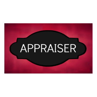 Appraiser Elegant Name Plate Double-Sided Standard Business Cards (Pack Of 100)