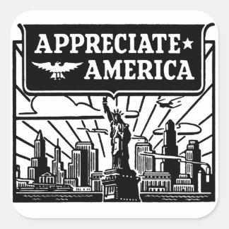 Appreciate America Square Sticker