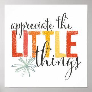 """""""appreciate the little things"""" wall art"""