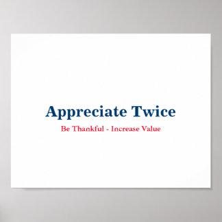 Appreciate Twice Poster