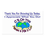 Appreciation Cards Changing This Planet Business Card Templates