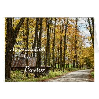 Appreciation -for Pastor Card