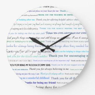 Appreciation series - Thank you dad for... Large Clock