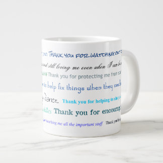 Appreciation series - Thank you dad for... Large Coffee Mug