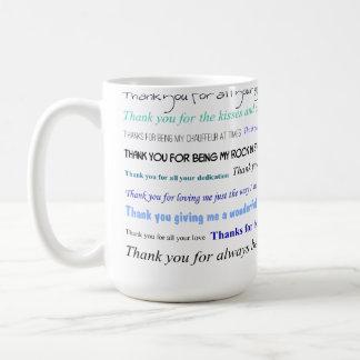 Appreciation series - Thank you dad for... Classic White Coffee Mug