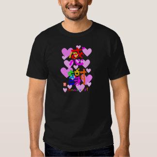 Appreciation thank you 2 hearts (color sign edge t shirt