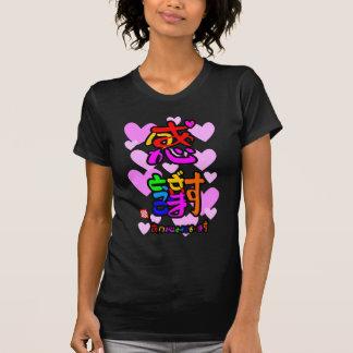 Appreciation thank you 2 hearts (color sign) t shirt