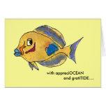 AppreciOCEAN tang cartoon fish thank you card