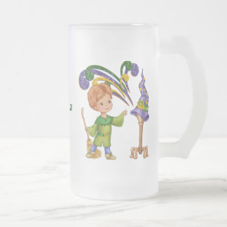 Apprentice Wizard Frosted Glass Beer Mug