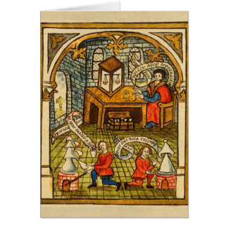 Apprentices in a Medieval Laboratory Card