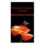 Approach on poppy flower Double-Sided standard business cards (Pack of 100)