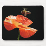 Approach on poppy flower mouse pad