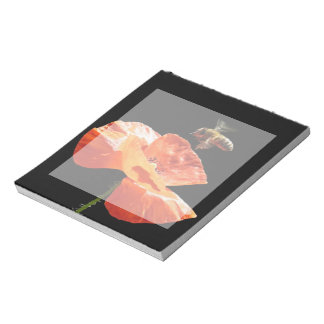 Approach on poppy flower notepads