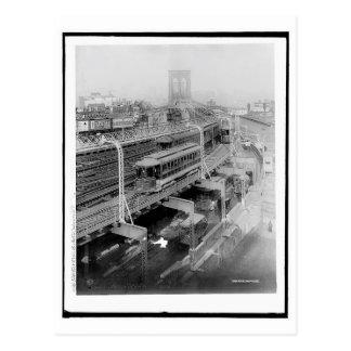 Approach to Brooklyn Bridge, Brooklyn, NY Vintage Postcard